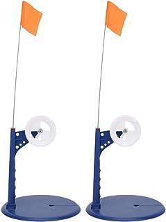 BLLBOO Bandera de Pesca de Invierno-Caña de Pescar de Hielo Caña de Pescar de Hielo de Invierno Tip-Up Flotante Compacto B...