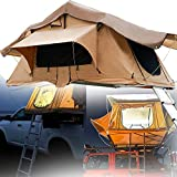 SUNWEII Rooftop Tent, SUV Camping Truck Bed Tents Sunroof Rooftop Tent with 2.3m Ladder,for Camping Large Space Suitable for 2-3 People Rooftop Tents for Camping