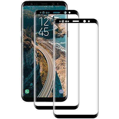 Miuphro Cristal Templado para Samsung S8 [2 Unidades], 3D Full-Cover, 9H Dureza, Alta Definicion, Sin Burbuja, Anti-Arañazos Protector de Pantalla para Samsung S8