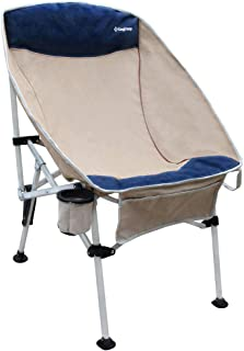 KingCamp Camping Chair, Heavy Duty Folding Chair with Unique Oversized Design, Oxford Fabrick Portable for 4 Seasons Outdoor Activities