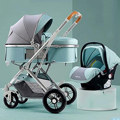 Hacrft Kinderwagen 2-in-1 Set, Hochlandschaftskinderwagen, Einhand-Kinderwagen, Mehrzweck-Kinderwagen, liegend und...