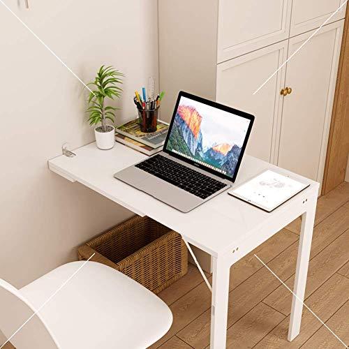 AJH Mesa Plegable de Pared, Blanco, Mesa de Comedor Plegable, Mesa de Trabajo, Escritorio para el hogar, diseño Invisible, Material ecológico, Escritorio, Resistente y Estable