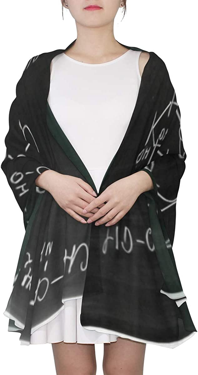 Chemistry Science Formula Unique Fashion Scarf For Women Lightweight Fashion Fall Winter Print Scarves Shawl Wraps Gifts For Early Spring