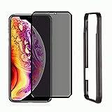 Haikingmoon Protección Privacidad [Anti-espía] Cristal Templado Alta Sensibilidad [Cobertura Completa] 9H Vidrio Protector Pantalla para Apple iPhone XS MAX - Negro