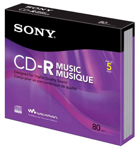 Sony CD-R Music Slim Jewel (5 Pack)