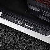 SLONGK 4PCS Pegatinas de umbral de Puerta de Coche de Fibra de Carbono Tuning Accesorios de Coche, para Alfa Romeo Giulia Giulietta 159156 Mito Stelvio 147 GT