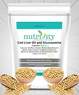 Cod Liver Oil & Glucosamine 1000mg Capsules for Joint