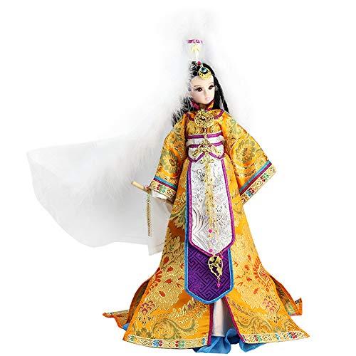 JaidWefj Muñeca China de Disfraces/Muñeca Wang Zhaojun móvil de 14 articulaciones - Colección de Regalos de decoración del hogar (sin Flauta)