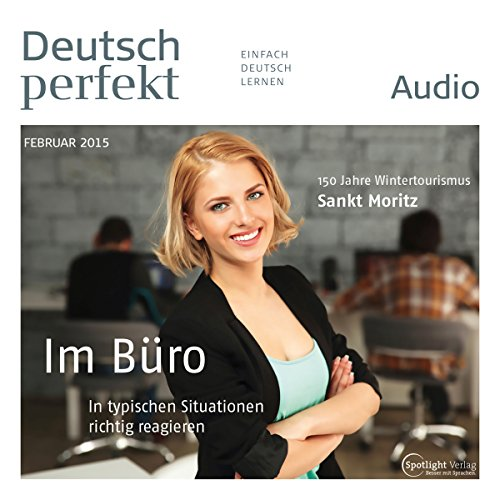 Deutsch perfekt Audio - Im Büro. 2/2015 audiobook cover art