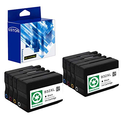 ESTON Remanufactured Ink Cartridge Replacement for HP 932 XL 933XL High Yield for HP OfficeJet 6600 6700 6100 7610 Combo Pack 8 Pack (2Black 2Cyan 2Magenta 2Yellow)