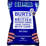 Burts Potato Chips Sea Salted 40 g (Pack of 20)