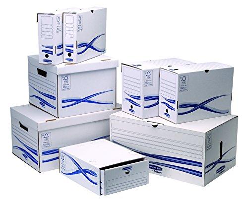 Bankers Box 4460504 Klappdeckelbox Maxi und 6 Stück Archivschachteln, 80 mm - 5