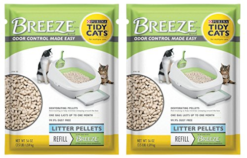 Purina Litter Tidy Cat Breeze Pellets, 3.5 lb, 2 Packs