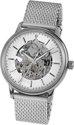 Jacques Lemans Unisex-Armbanduhr Nostalgie Analog Handaufzug Edelstahl N-207C