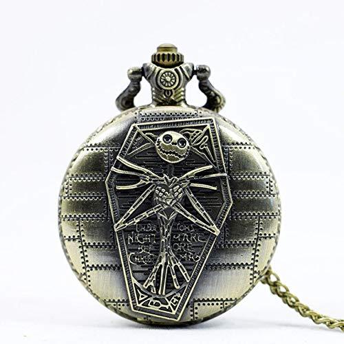 URNOFHW Antes de Bronce de la Vendimia for Mujer for Hombre del Reloj de Bolsillo de Navidad de Sally Cuarzo (Color : Bronze 1)