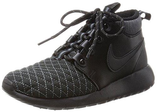 Nike Roshe One Mid Winter GS, Scarpe da Corsa Bambino, Nero-Grigio Scuro, 37 1/2 EU
