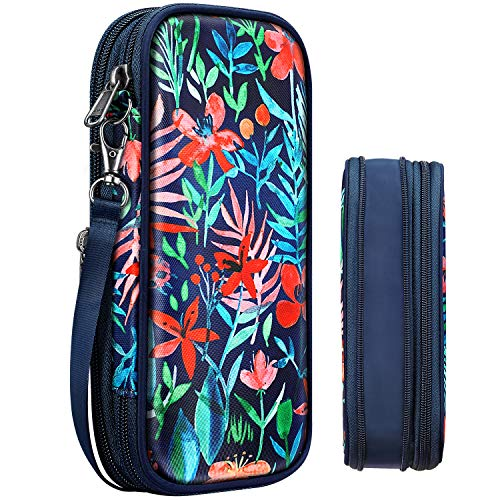 Expandable Pencil Case, FINPAC Large Storage Pen Pouch Bag Box Organizer for Teen Girls Kids Office College School Students
