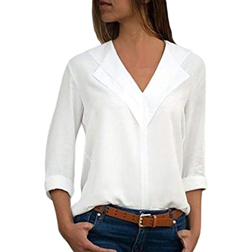 4cb494e9ccd Womens White Blouse Plus Size: Amazon.co.uk