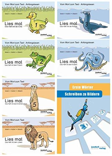 Lies mal! Hefte 1,2,3,4,5,6 und Schreiben zu Bildern Erste Wörter