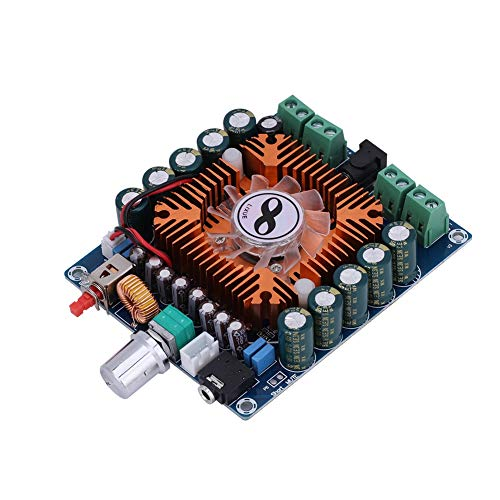 koulate Tarjeta de Amplificación de Potencia Digital de 4 Canales, Tarjeta de Amplificación Digital de Refrigeración Inteligente de Gran Potencia Tarjeta de Amplificación HiFi 450W