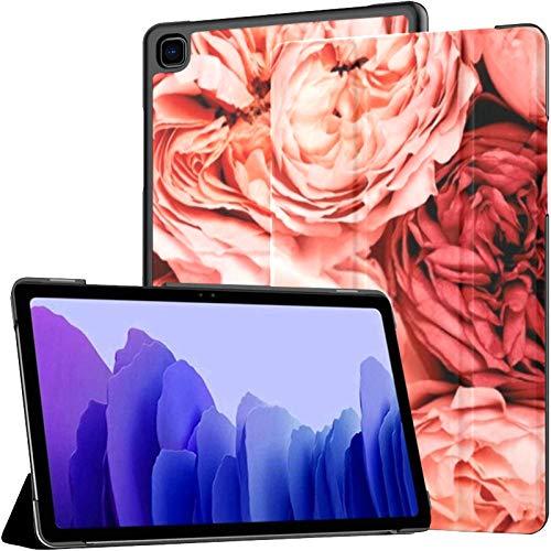 Funda para Samsung Galaxy Tab A7 Tableta de 10,4 Pulgadas 2020 (sm-t500 / t505 / t507), Hermosas Rosas inspiradas en una Funda de Soporte de múltiples ángulos con activación/suspensión automática