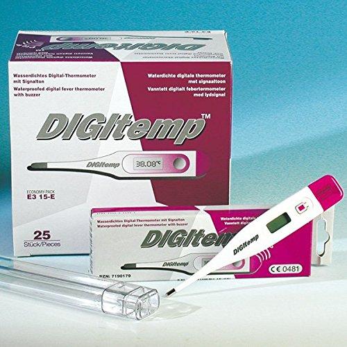 Digitemp 01219746 Elektronisches Fieberthermometer mit Einzeldisplay