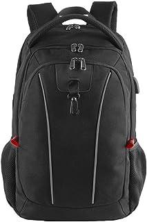 Fyuanmeiibb Backpack, Men's Multifunction USB Charging Backpack 17.3-inch Computer Backpack