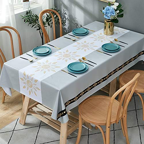 marca blanca Mantel pesado para mesa rectangular lavable con un paño, a prueba de aceite, resistente al agua, resistente a las manchas, a prueba de moho, 90 x 135 cm