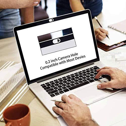 ivoler 3 Unidades Cubierta Webcam, Webcam Cover Slider Diseño Ultra Fino Camera Cover Tapa Webcam para Todo Tipo de Ordenadores Portátiles, Tabletas y Móviles Inteligentes - (Negro)