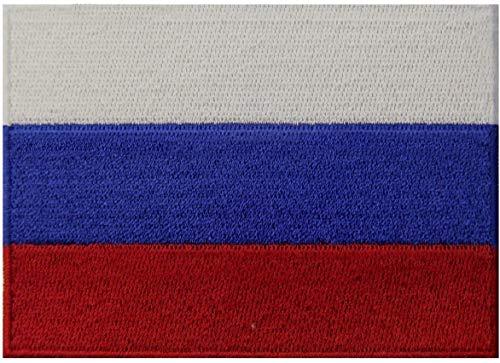 Parche bordado de bandera estadounidense con borde dorado, uniforme militar de los Estados Unidos de América Bandera de Rusia