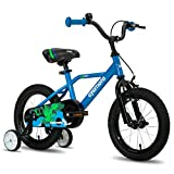 "cycmoto 16"" Kids Bike with Hand Brake & Training Wheels for 4 5 6 Years Boys, Toddler Bicycle Blue"