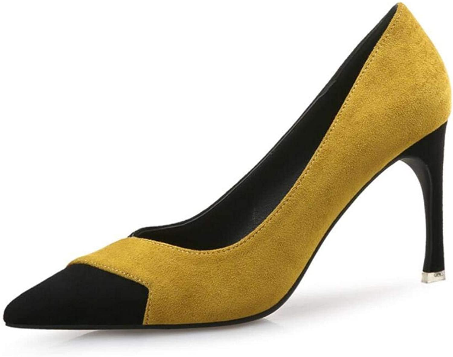 Lady shoes Women High Heels Tip Fine with Suede Fight Single Heel Leisure Cosy Wild Casual Quality Super Elegant for Womens High 8cm