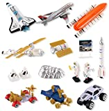 PowerTRC Educational Space Shuttle Playset with Rocket Ship, Space Vehicles, Space Explorers