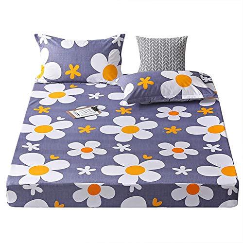 Aunmas Bedsure-dekbedovertrek van polyester, met bloemdruk, met kussenslopen