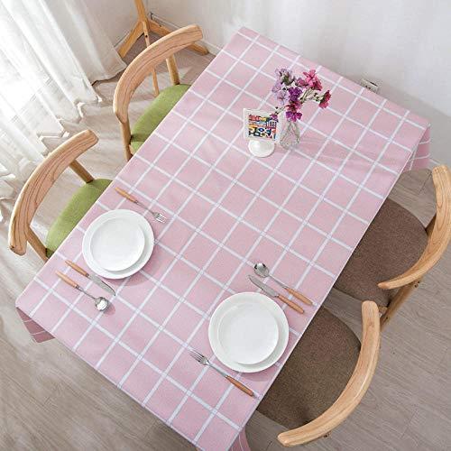 GTWOZNB Cubierta de Mesa de Simples Adecuado para la decoración de cocinas caseras, Varios tamaños Celosía PVC Impermeable-Polvo de Flor de Cerezo_El 130 * 180cm