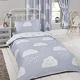 Price Right Home - Juego de funda nórdica y funda para almohada de nubes felices para niños