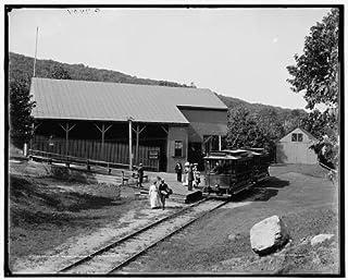 HistoricalFindings Photo: Lower Station,Mount Tom Railway,Railroad Buildings,Holyoke,Massachusetts,c1905