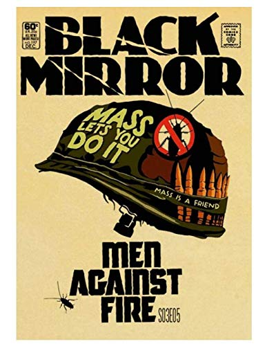 H/P Classic Movie Black Mirror Retro Art Poster Oil Painting Family Cafe Mural Decoration Frameless 40X60Cms2440