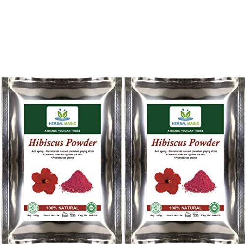 200g USDA Certified Organic Pure Hibiscus Powder Good for Anti-greying |Hair Loss Anti-Ageing, Hair Growth Thick & Bouncy Locks| Skin Tightening(Organic Hibiscus Powder - 200gms)