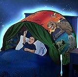 Carpa Para Niños Carpa De Ensueño Carpa Para Cama Carpa Infantil Plegable Tiendas de Juego,para Niños,Casa de Juego con Tema de Sueño para Interiores y Exteriores (dinosaurio)