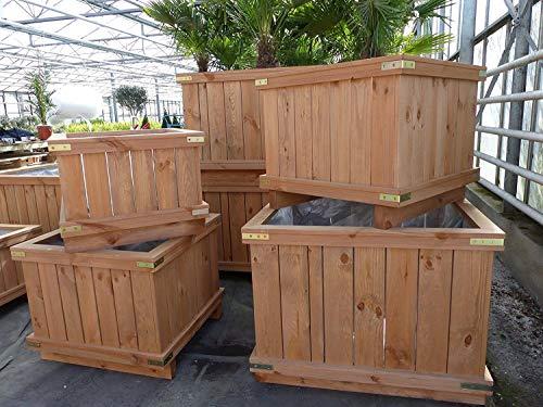 Holzkübel XXL Pflanzkübel Kübel Holz (90x90x60 cm)