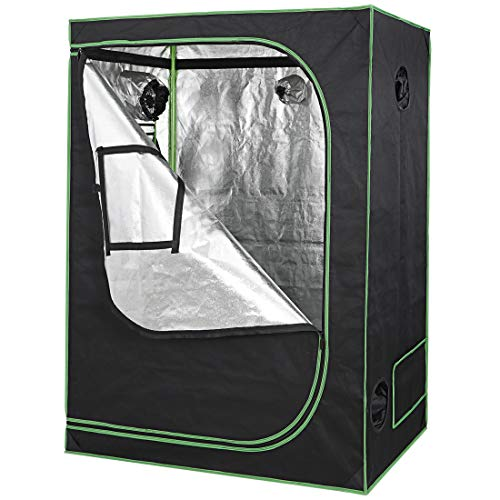 Nova Microdermabrasion 48'x24'x60' Mylar Hydroponic Grow Tent with Observation Window and Floor Tray, High Reflective Growing Tent Room for Indoor Plant Fruit Flower Veg