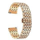 TRUMiRR Galaxy Watch 42mm Bracelet, 20mm Crystal Diamond Watch Band Quick Release Bracelet en Acier Inoxydable pour Samsung Gear...