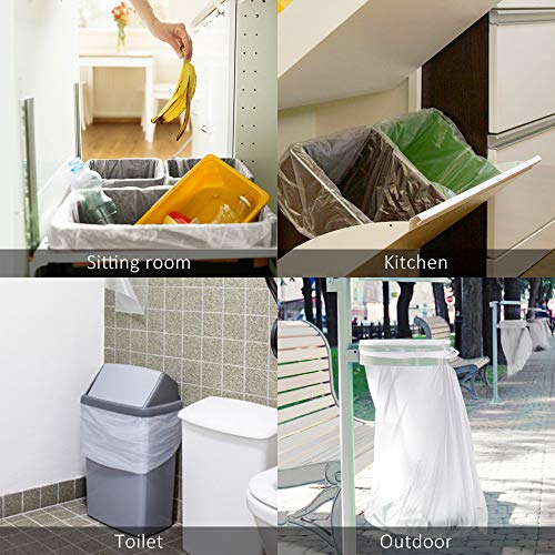 8 Gallon 220 Counts Strong Trash Bags Garbage Bags by Teivio, Bin Liners, for home office kitchen, Clear