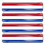 Biomar Labs® 4 x Aufkleber 3D Gel Silikon Stickers Niederlande Holland The Netherlands Dutch Niederländische Flagge Fahne Flag Autoaufkleber F 10