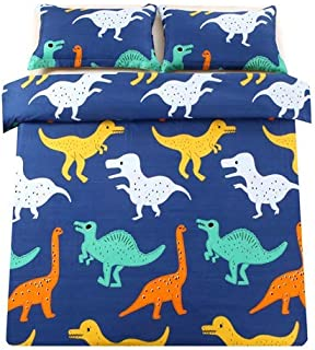 Sandyshow 2PC Dinosaur Bedding For Kids Twin Duvet Cover Set(No Comforter Inside) Full/Queen Size Optional (Twin (Dinosaur))
