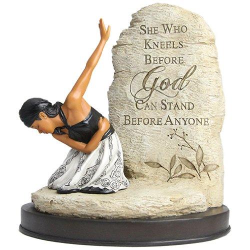 "African American Expressions - She Who Kneels Figurine (6.25"" x 3"" x 7.5"") FSWK-01"