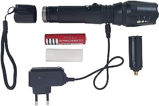 Lanterna Tática T6 Super Potente Com Bateria Recarregável