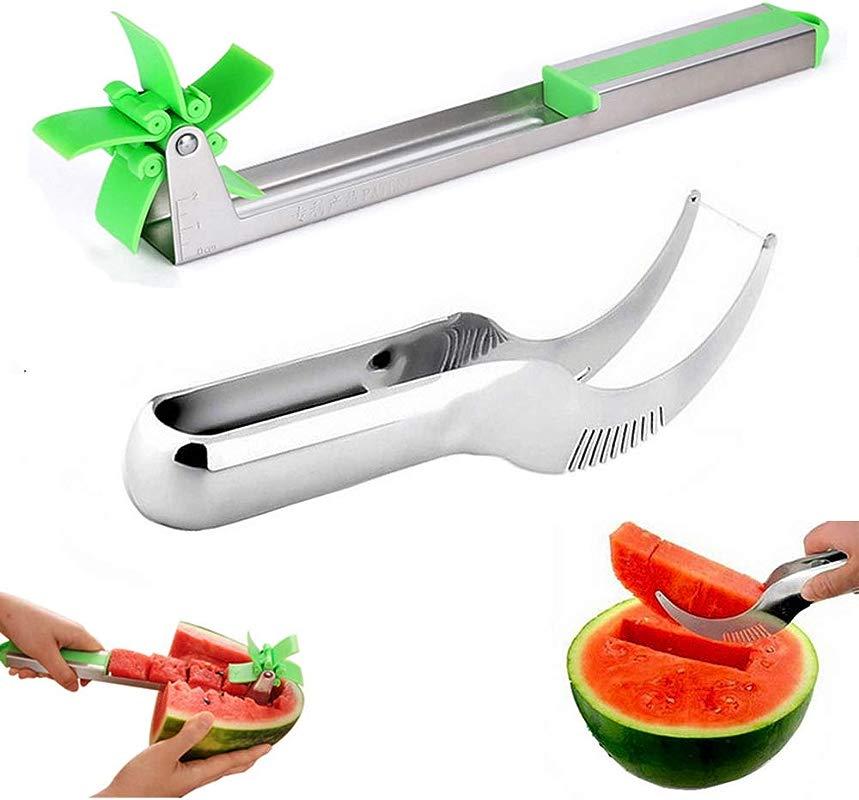 Watermelon Slicer Smart Watermelon Windmill Slicer Stainless Steel Watermelon Cubes Slicer And Corer