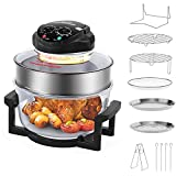 Wisfor Infrared Halogen Oven Chicken Turbo Cooker Oven Large 17 Quart for Healthy Meals Fries Chips with 11 Accessories